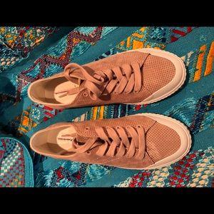 Tretorn WTmarleys women's pink suede sneakers 9